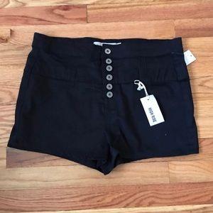 NWT Black High Waisted Shorts Size 13